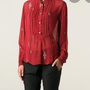 ISABEL MARANT ETOILE  STRIPED CHARLEY TOP